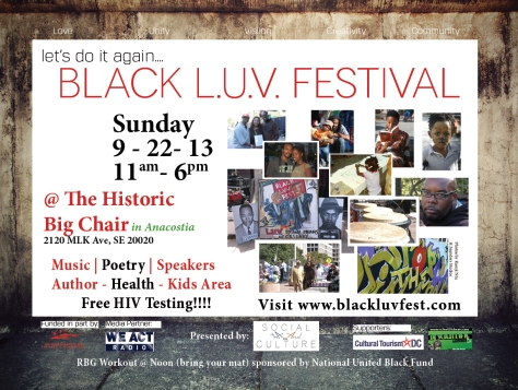 DC:   Join Us For The Black LUV Festival This Sunday